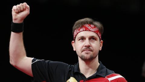 Timo Boll ballt die Faust.