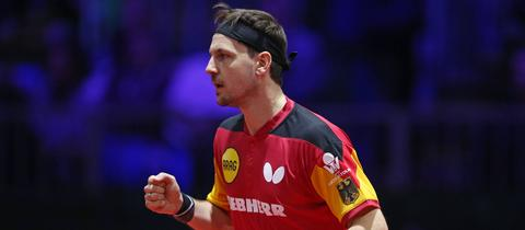 Timo Boll ballt die Sieger-Faust