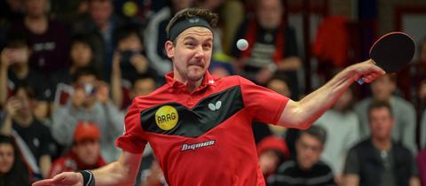 Timo Boll am Ball