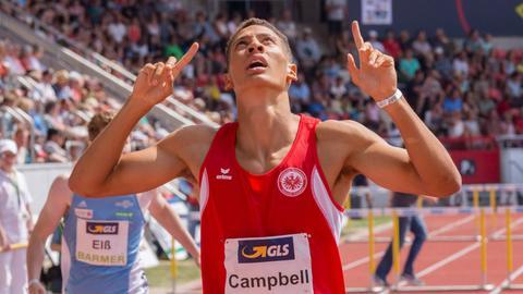 Luke Campbell jubelt.