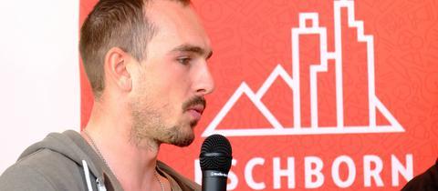 John Degenkolb bei der PK vor Eschborn - Frankfurt