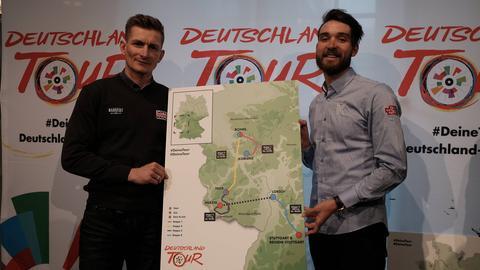Greipel und Rick Zabel mit der Strecke der Deutschland