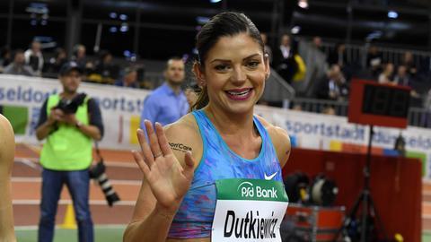 Pamela Dutkiewicz beim Leichtathletik-Meeting in Düsseldorf
