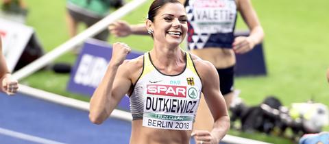 Pamela Dutkiewicz bei der Leichtathletik-EM in Berlin