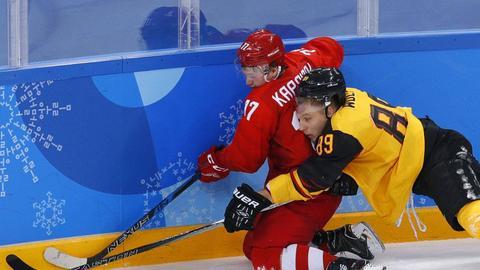 Eishockey: Deutschland gegen Russland im olympischen Finale