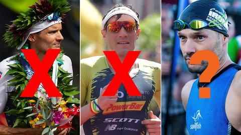 Collage: Frodeno, Kienle und Lange