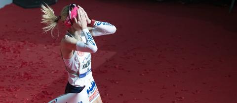 Katharina Heinig beim Frankfurt Marathon