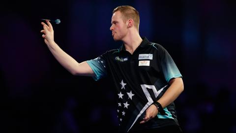Max Hopp bei der Darts-WM in London