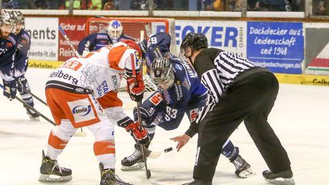 Szene aus einem Spiel zwischen Huskies und Crimmitschau