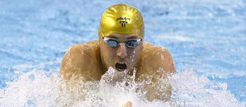 Marco Koch beim Schwimmen