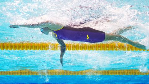 Sarah Köhler bei der Schwimm-EM