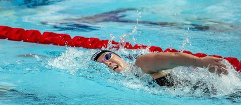 Sarah Köhler bei der Schwimm-WM