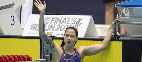 Sarah Köhler im Wasser