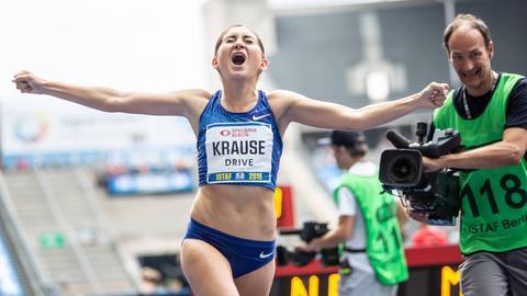 Gesa Krause jubelt