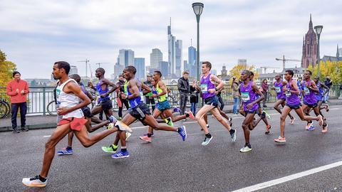 Gruppe beim Frankfurt Marathon
