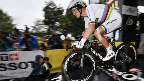 Tony Martin beim Start der Tour de France
