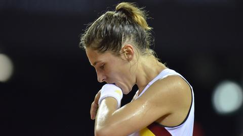 Andrea Petkovic enttäuscht