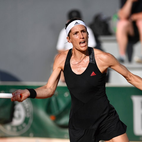 Andrea Petkovic in Aktion bei den French Open