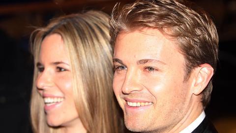 Nico Rosberg mit seiner Ehefrau