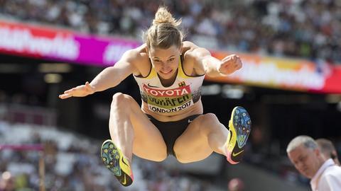 Carolin Schäfer bei der Leichtathletik-WM