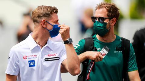 Mick Schumacher und Sebastian Vettel