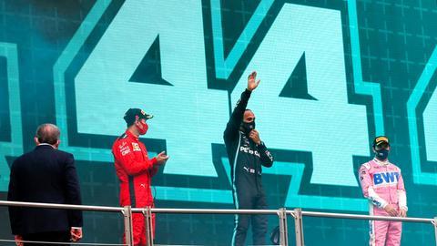 Die Siegerehrung nach dem Formel-1-Rennen in Istanbul