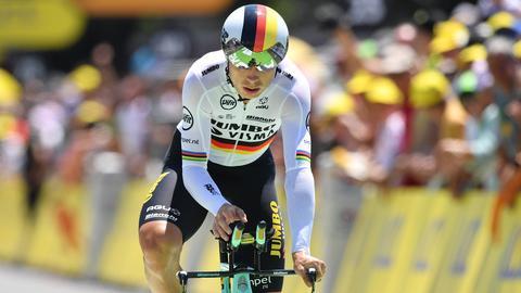 Tony Martin beim Zeitfahren bei der Tour de France