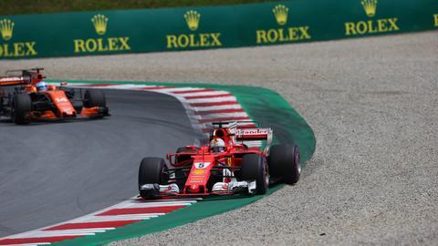 Sebastian Vettel beim Großen Preis von Österreich