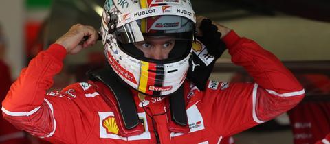 Sebastian Vettel beim Grand Prix in Silverstone