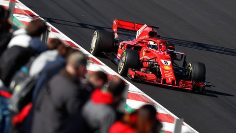 Vettel in seinem Ferrari