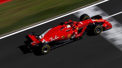 Sebastian Vettel beim Qualifying in Spanien