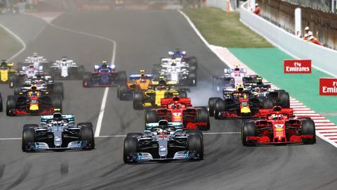 Start beim Grand Prix von Barcelona