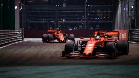 Sebastian Vettel im Duell mit Charles Leclerc