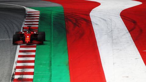 Vettel in Spielberg in seinem Ferrari