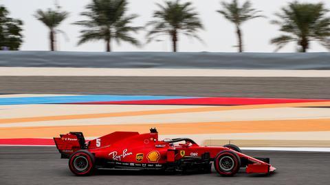 Sebastian Vettel in seinem Ferrari