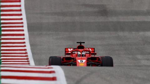 Sebastian Vettel beim Grand Prix in den USA