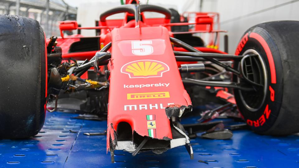 Vettels kaputtes Auto