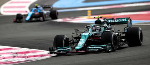 Sebastian Vettel in seinem Aston Martin beim Rennen in Frankreich
