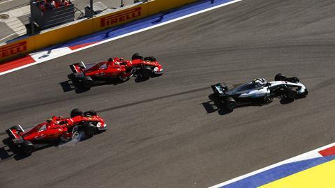 Sebastian Vettel verliert den Start
