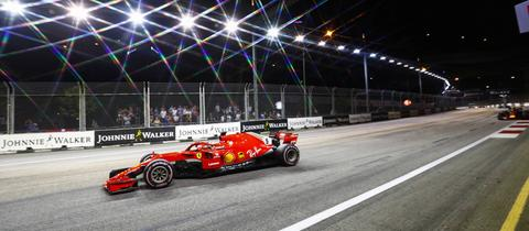 Sebastian Vettel im Ferrari beim GP von Singapur