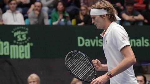 Alexander Zverev im Davis Cup in Frankfurt