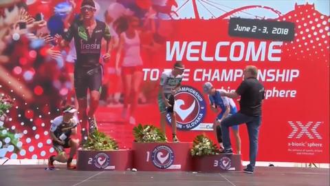 Champagner-Panne beim Ironman