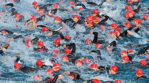 Schwimmen beim Ironman Frankfurt