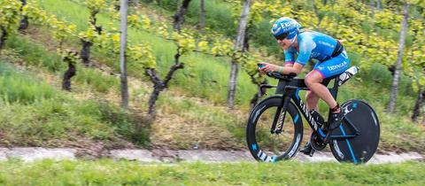 Bleymehl auf dem Fahrrad