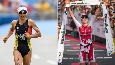 Die Triathletinnen Ryf und Haug
