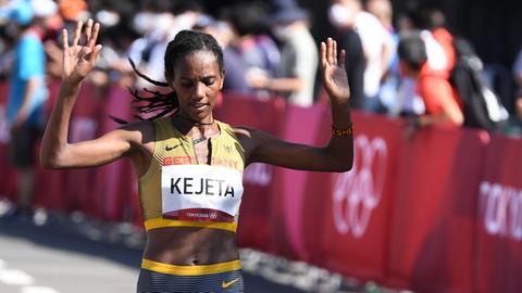 Melat Kejeta beim Olympia-Marathon