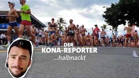 Kona-Reporter halbnackt
