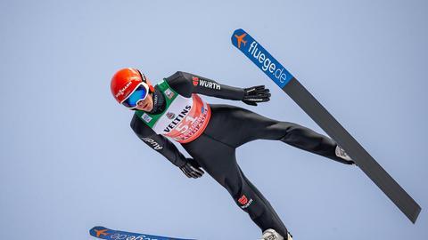 Stephan Leyhe in der Quali in Oberstdorf
