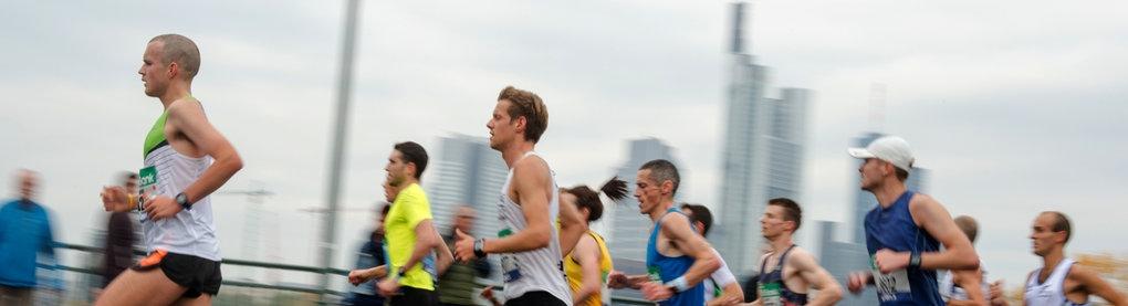 Szene vom Marathon in Frankfurt