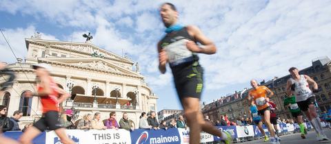 Szene vom Marathon Frankfurt
